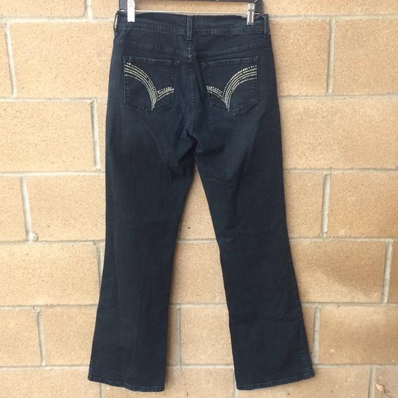 NYDJ Denim - NYDJ Barbara Bootcut Dark Studded Bling Jeans Sz 6